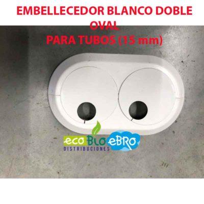 EMBELLECEDOR BLANCO DOBLE OVAL PARA TUBOS (15 mm) ecobioebro