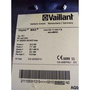 REPUESTO TERMOPAR CALDERA VAILLANT (mini Es 11-0/0 F B atmoMAG)