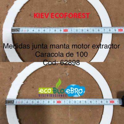 JUNTA CARCASA MOTOR EXTRACTOR ESTUFA KIEV (ECOFOREST) ECOBIOEBRO