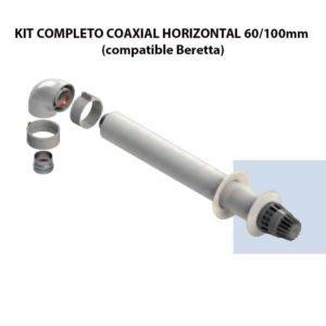 KIT COMPLETO COAXIAL HORIZONTAL 60:100mm (compatible Beretta) ecobioebro