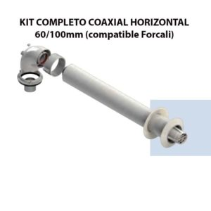 KIT COMPLETO COAXIAL HORIZONTAL 60:100mm (compatible Forcali) ecobioebro