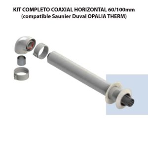 KIT COMPLETO COAXIAL HORIZONTAL 60:100mm (compatible Saunier Duval OPALIA THERM) ecobioebro