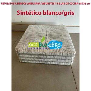 Sintetico-blanco:gris asientos anea ecobioebro