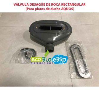 VÁLVULA DESAGÜE DE ROCA RECTANGULAR (Para platos de ducha AQUOS) ecobioebro