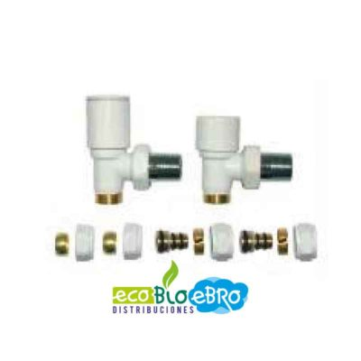 Blíster Conjunto Válvula + Detentor Blancos para Toalleros ecobioebro