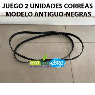 JUEGO-2-UNIDADES-CORREAS-MODLEO-ANTIGUO-NEGRAS-SPIDER-GUT-ecobioebro