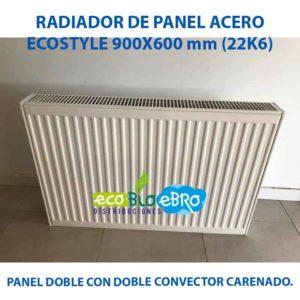 RADIADOR DE PANEL ACERO ECOSTYLE 900X600 mm (22K6) ecobioebro