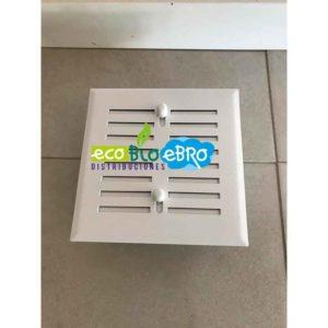 REJILLAS REGULABLES 15 X 15 cm CON CONEXIÓN PARA TUBO 120 mm blanca ecobioebro
