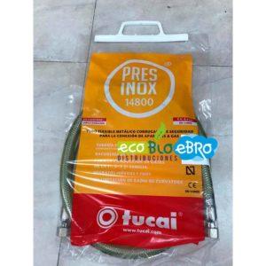 TUBO FLEXIBLE METÁLICO PRESINOX 14800 (conexión aparatos a gas) ecobioebro