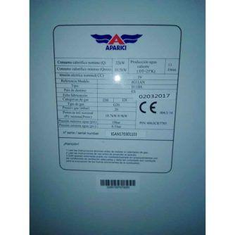etiqueta-calentador-aparici-IG11AN-ecobioebro