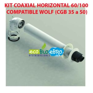 KIT COAXIAL HORIZONTAL 60:100 COMPATIBLE WOLF (CGB 35 a 50) ecobioebro
