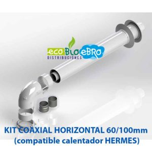 KIT COAXIAL HORIZONTAL 60:100mm (compatible calentador HERMES) ecobioebro
