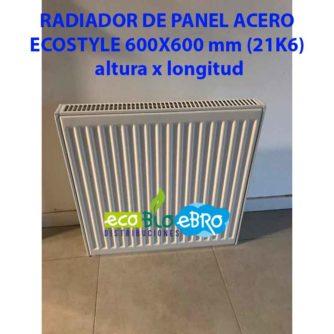 RADIADOR DE PANEL ACERO ECOSTYLE 600X600 mm (21K6) ECOBIOEBRO