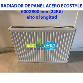 RADIADOR DE PANEL ACERO ECOSTYLE 600X800 mm (22K6) ECOBIOEBRO
