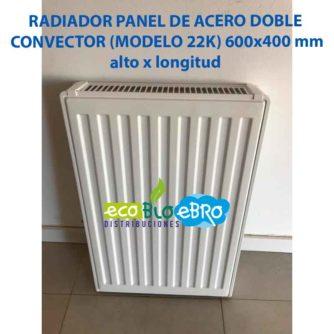 RADIADOR PANEL DE ACERO DOBLE CONVECTOR (MODELO 22K) 600x400 mm ecobioebro