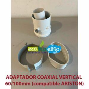 AMBIENTE ADAPTADOR-COAXIAL-VERTICAL-60100mm-(compatible-ARISTON) ecobioebro