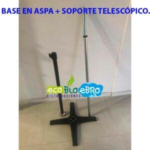 BASE-EN-ASPA-+-SOPORTE-TELESCÓPICO-ecobioebro