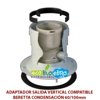 ADAPTADOR-SALIDA-VERTICAL-COMPATIBLE-BERETTA-CONDENSACIÓN-60100mm-ecobioebro