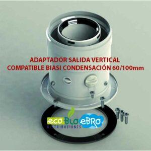 ADAPTADOR-SALIDA-VERTICAL-COMPATIBLE-BIASI-CONDENSACIÓN-60100mm ecobioebro