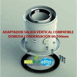 ADAPTADOR-SALIDA-VERTICAL-COMPATIBLE-DOMUSA-CONDENSACIÓN-60100mm ecobioebro