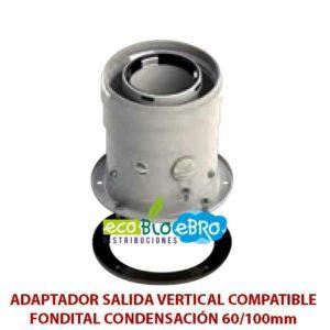 ADAPTADOR-SALIDA-VERTICAL-COMPATIBLE-FONDITAL-CONDENSACIÓN-60100mm-ecobioebro