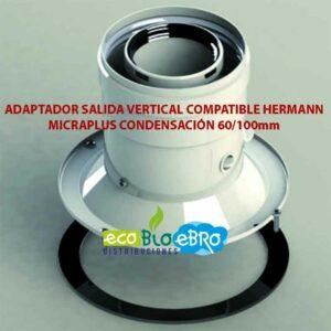 ADAPTADOR-SALIDA-VERTICAL-COMPATIBLE-HERMANN-MICRAPLUS-CONDENSACIÓN-60100mm-ecobioebro