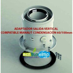 ADAPTADOR-SALIDA-VERTICAL-COMPATIBLE-MANAUT-CONDENSACIÓN-60100mm ecobioebro