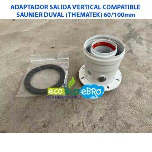 ADAPTADOR-SALIDA-VERTICAL-COMPATIBLE-SAUNIER-DUVAL-(THEMATEK)-60100mm ecobioebro