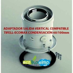 ADAPTADOR-SALIDA-VERTICAL-COMPATIBLE-TIFELL-ECOMAX-CONDENSACIÓN-60100mm-ecobioebro