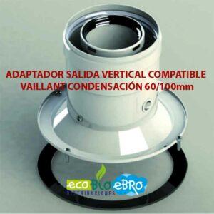 ADAPTADOR-SALIDA-VERTICAL-COMPATIBLE-VAILLANT-CONDENSACIÓN-60100mm ecobioebro