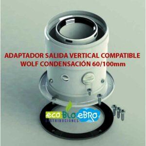 ADAPTADOR-SALIDA-VERTICAL-COMPATIBLE-WOLF-CONDENSACIÓN-60100mm ecobioebro