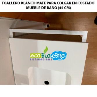 TOALLERO-BLANCO-MATE-PARA-COLGAR-EN-COSTADO-MUEBLE-DE-BAÑO-(45-CM) ecobioebro