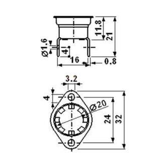 dimensiones-TERMOSTATO-BIMETÁLICO-SEGURIDAD-REARME-MANUAL-55º-ESTUFA-ARLES-(ECOFOREST)-ecobioebro