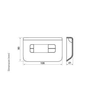 Termostato ambiente y actuador para Fan Coil 3 velocidades CH130RR (Fantini Cosmi)