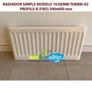 RADIADOR-SIMPLE-MODELO-10-KERMI-THERM-X2-PROFILE-K-(FKO)-300x600-mm ecobioebro