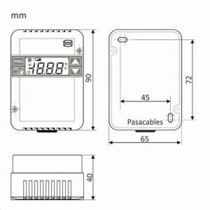 TERMOSTATO SUPERFICIE INDUSTRIA ECS 57 (Calefacción / Refrigeración)