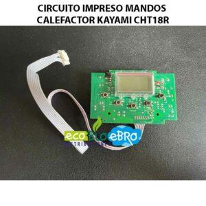 CIRCUITO-IMPRESO-MANDOS-CALEFACTOR-KAYAMI-CHT18R ecobioebro