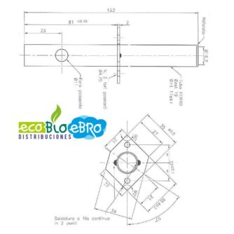 Dimensiones-tubo resistencia-encendido-estufa-Envirofire-SERIE-EF-(Ecoforest)-ecobioebro