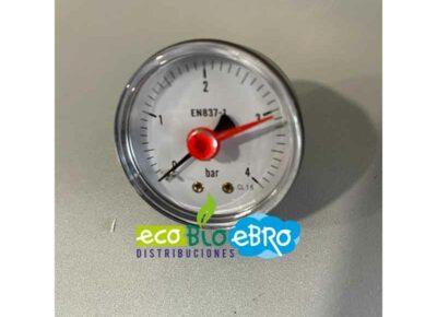MANÓMETRO SUELTO DIÁMETRO 50-4 KGS 1:4 (escala 0 a 4 bar) ecobioebro