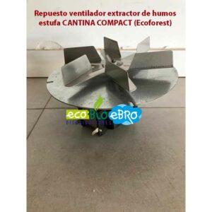 Repuesto ventilador extractor de humos estufa CANTINA COMPACT (Ecoforest)