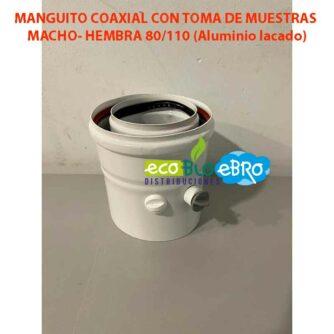 AMBIENTE MANGUITO-COAXIAL-CON-TOMA-DE-MUESTRAS-MACHO--HEMBRA-80110-(Aluminio-lacado) ecobioebro