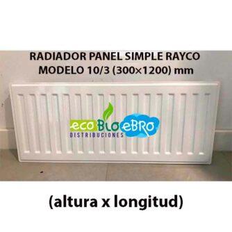 RADIADOR-PANEL-SIMPLE-RAYCO-MODELO-103-(300×1200)-mm ecobioebro