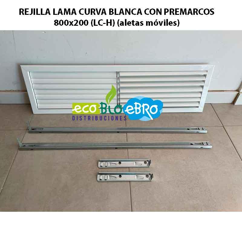 REJILLA-LAMA-CURVA-BLANCA-CON-PREMARCOS-800x200-(LC-H)-(aletas-móviles)-ecobioebro