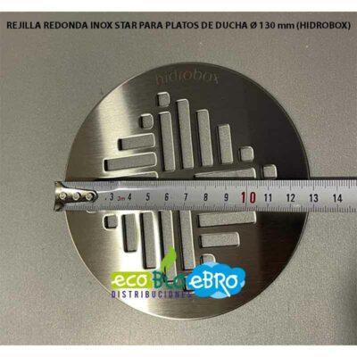 REJILLA REDONDA INOX STAR PARA PLATOS DE DUCHA Ø 130 mm (HIDROBOX)