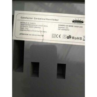 etiqueta-calefactor-ceramico-kayami S10:20M-D ecobioebro