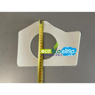 medida JUNTA EXTRACTOR PENTAGONAL ESTUFA BOLONIA (2011) 10 KW (ECOFOREST) ecobioebro