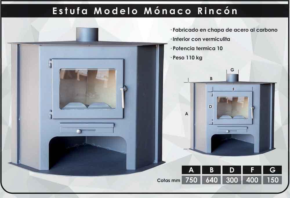 FICHA-TECNICA ESTUFA DE LEÑA RINCÓN MONACO (10 KW) ecobioebro