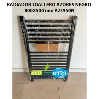 RADIADOR-TOALLERO-AZORES-NEGRO-800X500-mm-AZA50N ecobioebro
