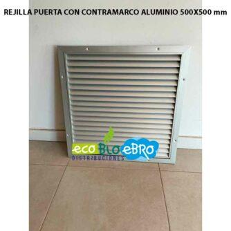 REJILLA-PUERTA-CON-CONTRAMARCO-ALUMINIO-500X500-mm ecobioebro