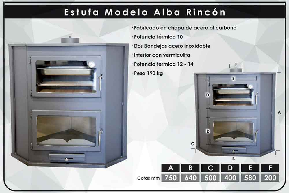 ficha-tecnica ESTUFA-DE-LEÑA-ALBA-RINCÓN-(12-14-KW)-ecobioebro
